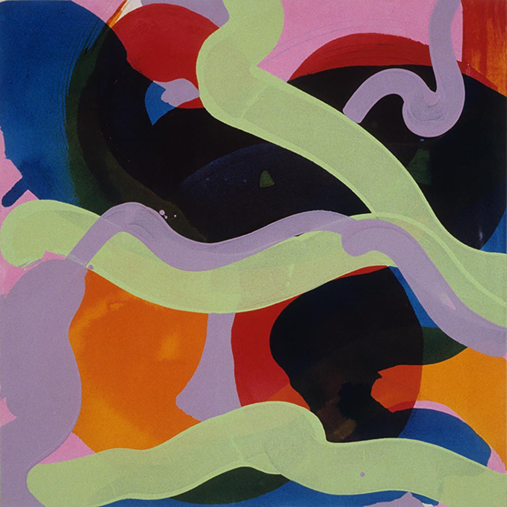 Andrea McCuaig Mosh II 2004 Acrylic on canvas 100 x 100cm
