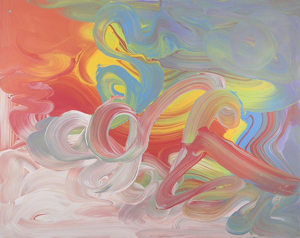 Andrea McCuaig Movement in time & space on a 2 dimensional surface III 2014 Acrylic on canvas 150 x 120cm