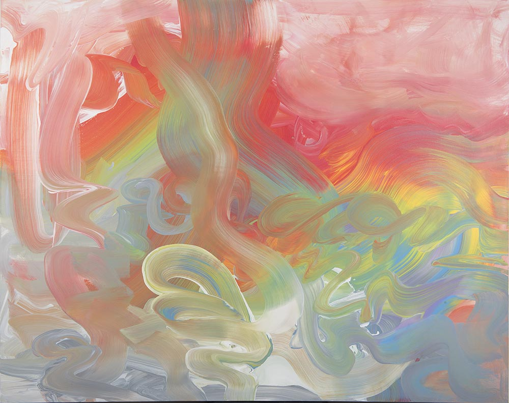 Andrea McCuaig Movement in time & space on a 2 dimensional surface II 2014 Acrylic on canvas 150 x 120cm