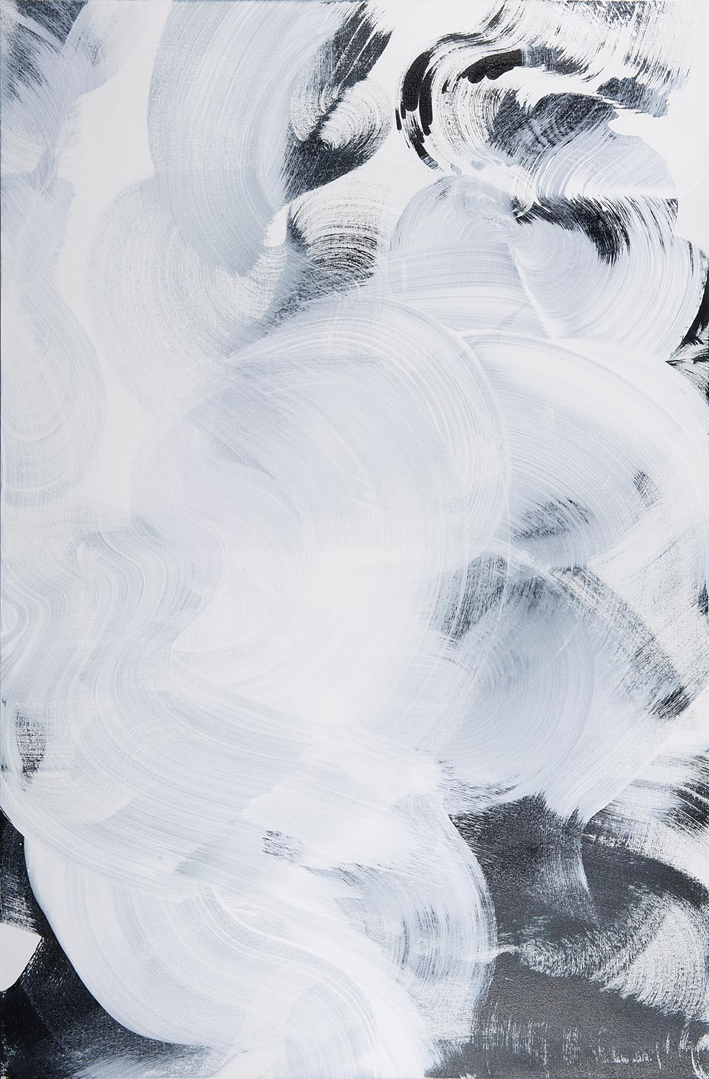 Andrea McCuaig Prelude to zen II 2014 Acrylic on canvas 150 x 100cm