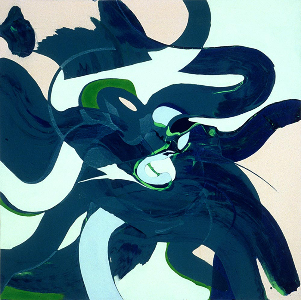 Andrea McCuaig Samuri Hop 2004 Acrylic on canvas 100 x 100cm