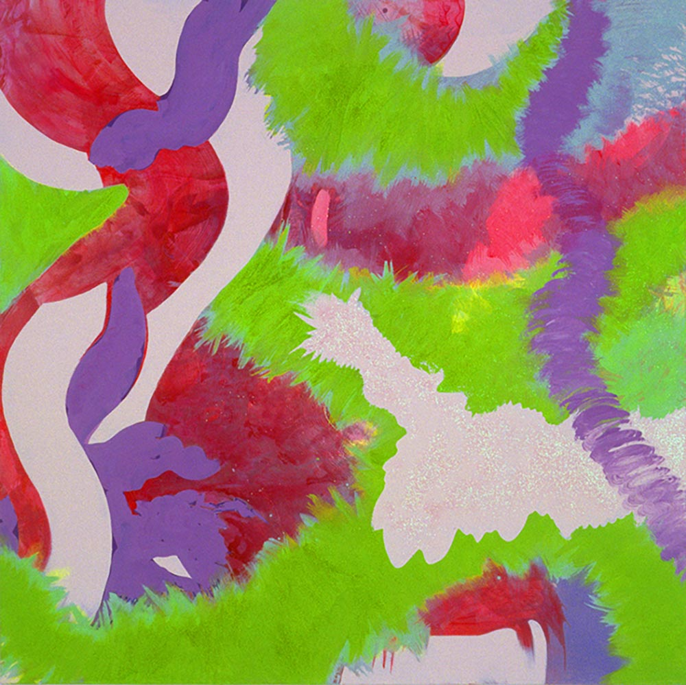 Andrea McCuaig Shimmy 54 2004 Acrylic on canvas 100 x 100cm