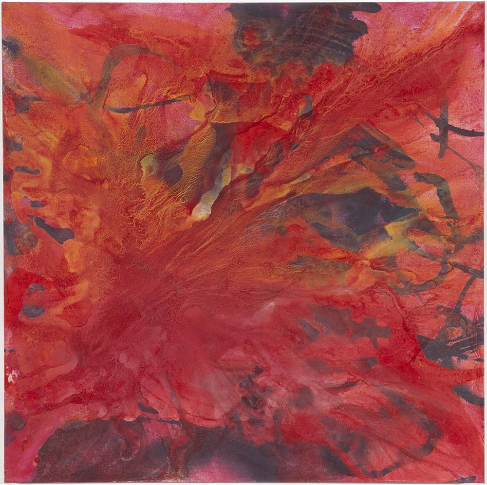Andrea McCuaig Sonata in red I 2010 Acrylic on canvas 100 x 100cm
