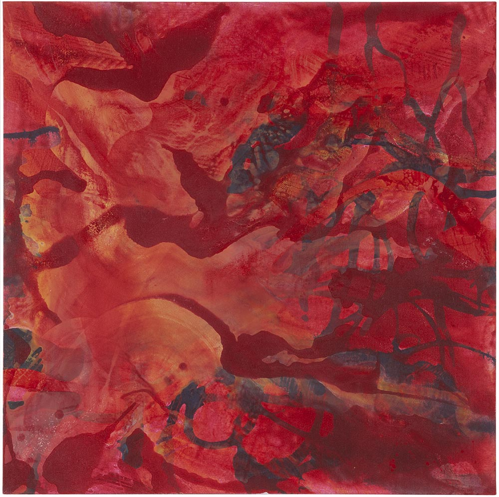 Andrea McCuaig Sonata in red II 2010 Acrylic on canvas 100 x 100cm