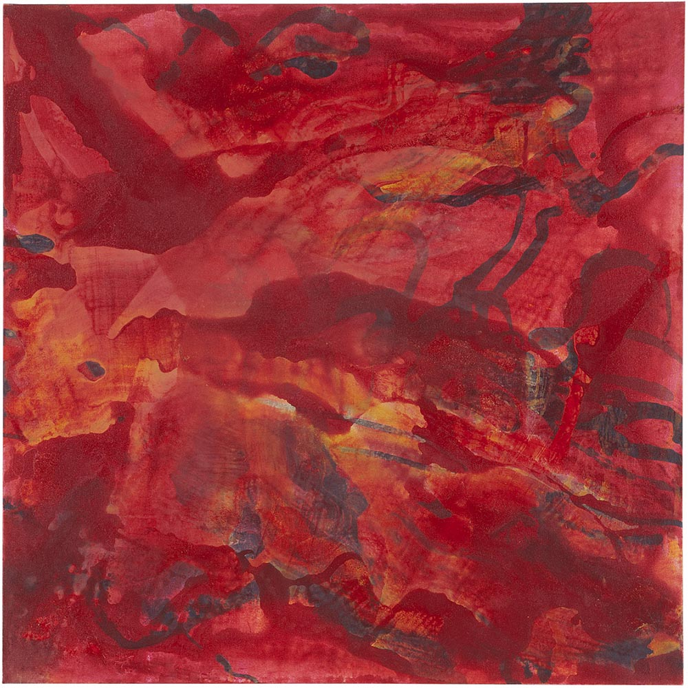 Andrea McCuaig Sonata in red III 2010 Acrylic on canvas 100 x 100cm