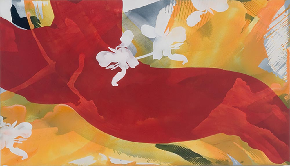 Andrea McCuaig Jete 2006 Acrylic on canvas 175 x 75cm