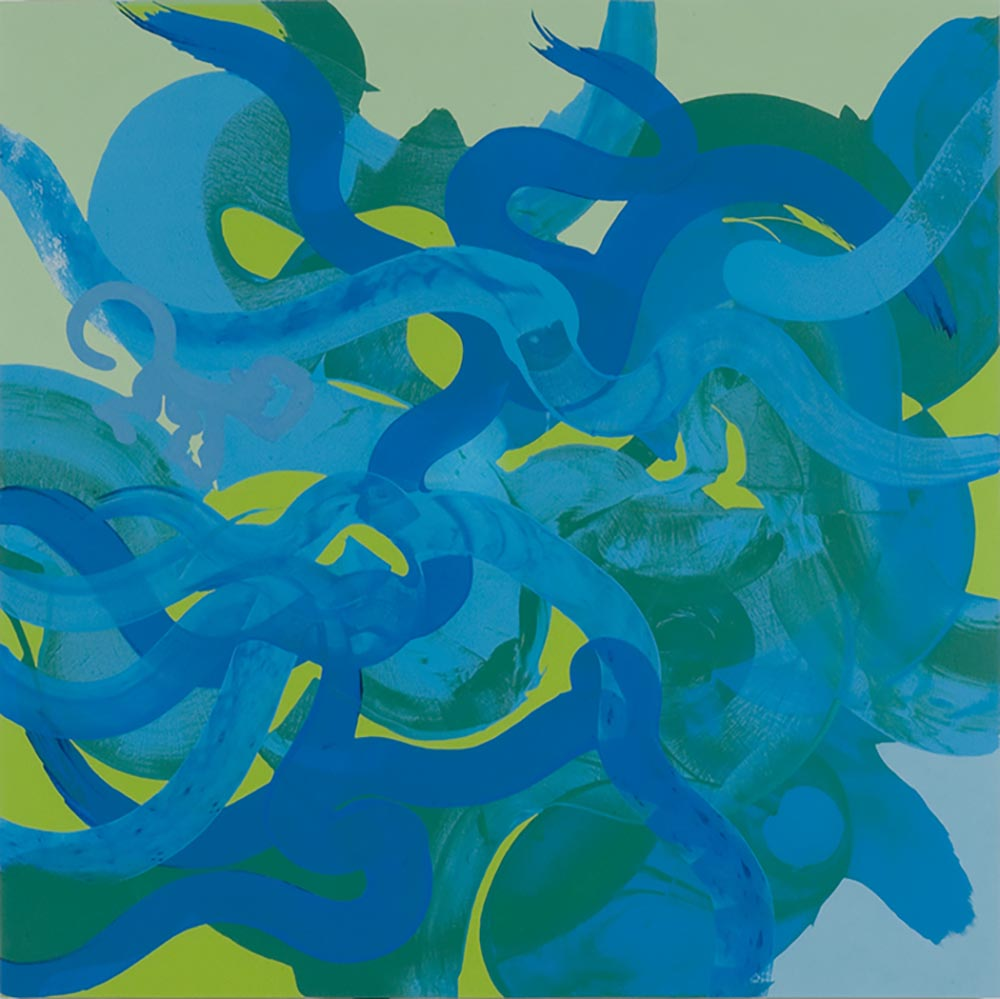 Andrea McCuaig Monkey Rap 2006 Acrylic on canvas 175 x 175cm